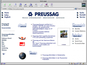 Cybays erstes Website Projekt 1995