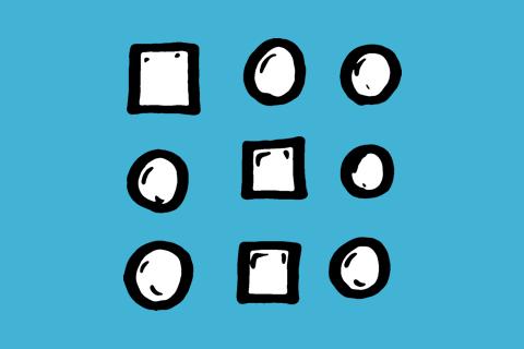 Illustration Gestaltgesetz Ähnlichkeit