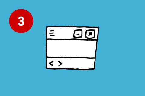 Illustration Kontrolle und Freiheit Usability Prinzipien