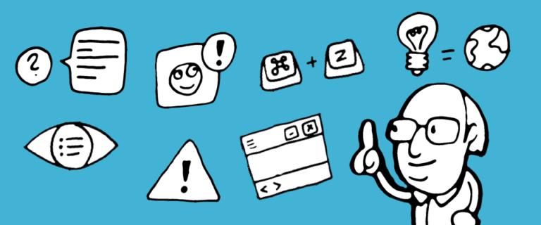 Illustration Usability Prinzipien