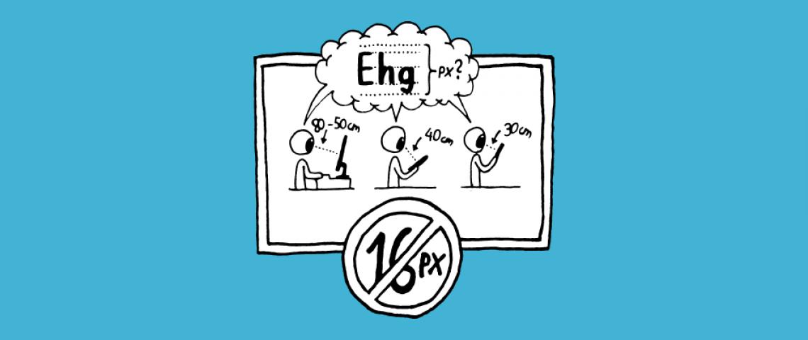 Illustration zu Schriftgröße und Website